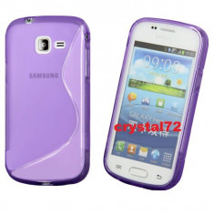 Livrare gratuita! Husa termorezistenta silicon - gel TPU pentru Samsung Galaxy Trend Lite S7390 (Samsung Galaxy Fresh) + folie ecran + laveta, mov