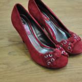 NEXT PANTOFI DE PIELE INTOARSA MARIMILE 38/39/40/41 - Pantofi dama