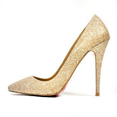 Pantofi Christian Louboutin Gold limited edition. LICHIDARE DE STOC! REDUCERI! - Pantof dama Christian Louboutin, Marime: 37, 38, 39, 35, Culoare: Auriu