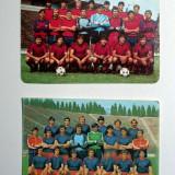 LOT 2 CALENDARE / CALENDAR, ANII 85, 86 - FOTBAL STEAUA BUCURESTI