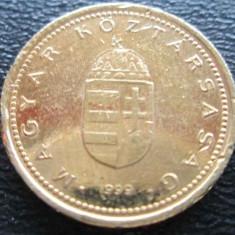 Monede Straine - (865) UNGARIA 1 FORINT PLACAT CU AUR