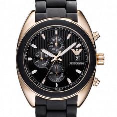 Vand ceas Armani AR5954 - Ceas barbatesc Armani, Lux - elegant, Quartz, Placat cu aur, Cauciuc, Rezistent la apa