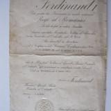 Brevet SERVICIUL CREDINCIOS clasa a 2-a, an 1923 - Ordin/ Decoratie