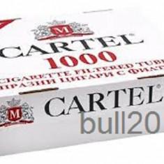 Foite tigari - TUBURI CARTEL 1000 tuburi, filtre tigari/ cutie, pentru injectat tutun, tigari