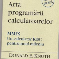 9A(56X) Donald E.Knuth-ARTA PROGRAMARII CALCULATOARELOR - Carte Limbaje de programare