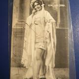 Ilustrata - Fotografia actritei Komlossi Emma, circulat 1906 - Carti Postale Romania dupa 1918