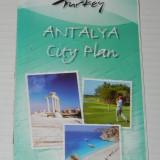 Harta ANTALYA CITY PLAN. TURCIA. 2008