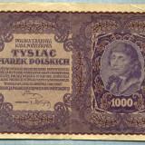 Bancnota Straine - 2047 BANCNOTA - POLONIA - 1 000 MAREK - anul 1919 -SERIA 366907 -starea care se vede