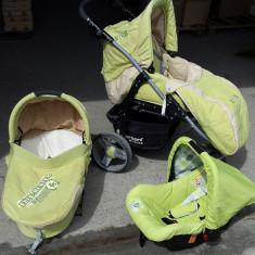 Carucior copii Bertoni 3 in 1 - Carucior copii 3 in 1 Bertoni, 1-3 ani, Pliabil, Verde