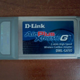 D-Link AirPlus DWL-G650 High Speed 2.4GHz Wireless 108Mbps Cardbus Adaptor - Adaptor wireless