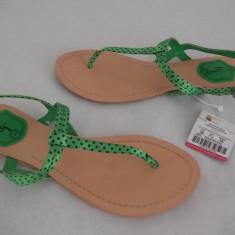Sandale dama Zara, Verde - Sandale Zara reducere!