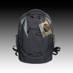 Geanta laptop, Rucsac, 15 inch, Poliester, Negru - RUCSAC LAPTOP
