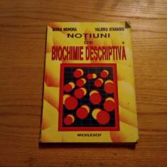 Notiuni de BIOCHIMIE DESCRIPTIVA -- Maria Mohora, Valeriu Atanasiu -- 1998, 208 p. - Curs diverse stiinte