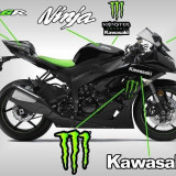 Kit autocolant moto stickere sticker autocolant Monster pentru kawasaki zx - Stickere tuning
