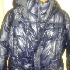 Geaca + vesta cu puf de pinguin model italia - Geaca dama, Marime: 42, Culoare: Lila, Poliester