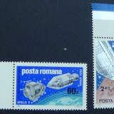 Timbre Romania, Nestampilat - LP 702 Apollo 9 si 10