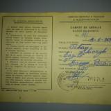 Carnet de abonat radio-televizor/ 1977-1979/ cu timbre fiscale - Pasaport/Document
