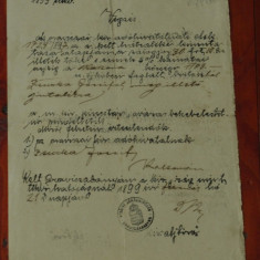 Document act vechi in Limba maghiara din Banat cu stampila Oravita anul 1899 !!! - Pasaport/Document