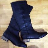 Cizme dama Asos, Marime: 39, Piele naturala, Negru - Asos Leather Boots – 200 Ron