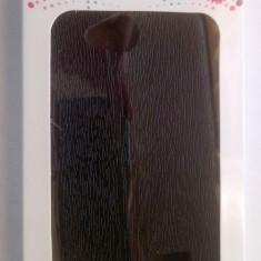 Husa FLIP PORTMONEU NEGRU SI FOLIE ECRAN - LG F60 - Husa Telefon LG, Piele Ecologica, Cu clapeta