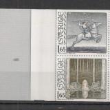 Suedia.1982 100 ani nastere J.Bauer-Ilustratii, carnet MS.220 - Timbre straine