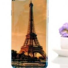 Husa din soft silicon pentru iPhone 6 plus 5.5 si folie de sticla Tempered Glass - Husa Telefon Apple