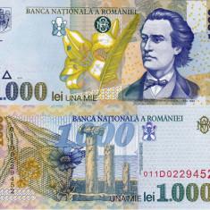 Bancnote Romanesti, An: 1998 - ROMANIA 1.000 lei 1998 - filigran BNR oblic UNC!!!
