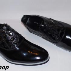 Pantofi barbati Louis Vuitton, Piele naturala - Pantofi LOUIS VUITTON 100% Piele Lacuita Naturala - Model NOU de Sezon !!!