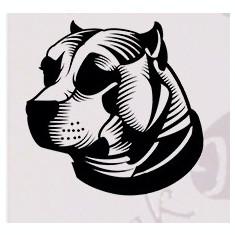 Tapet - Bull Terrier_Tatuaj De Perete_Sticker Decorativ Cod: WALL-176 - Orice culoare, Orice model pe comanda