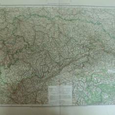 Harta color Germania Regatul Saxoniei Konigreich Sachsen Leipzig 1899 - Harta Germaniei