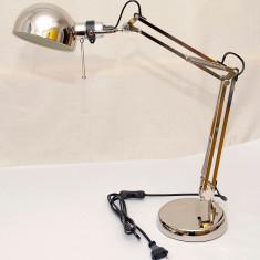 Lampa de birou din metal nichelat - calitate exceptionala - si pe negru