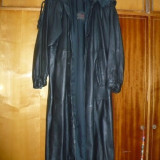 Haina de piele, lunga, eleganta, pentru doamne - OKAZIE, Marime: 54, Culoare: Negru