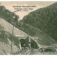 783 - MARAMURES, railway tunnel - old postcard - used - 1915 - Carte Postala Maramures 1904-1918, Circulata, Printata