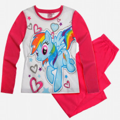 Pijama lunga 2-8 ani WS96957 alb-fucsia - My Little Pony