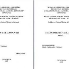 LUCRARE DE LICENTA A.M.F. - MEDICAMENTE UTILIZATE IN O.R.L. - Carte Farmacologie