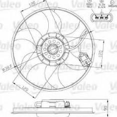 Ventilatoare auto - Ventilator, radiator OPEL TIGRA TwinTop 1.4 - VALEO 696284