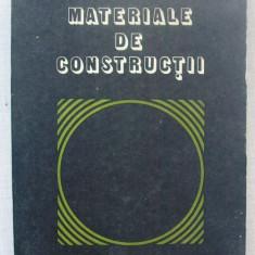 Carti Constructii - C.Bob, P.Velica - Materiale de Constructii