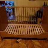 Patut bebe ikea cu saltea - Patut lemn pentru bebelusi, 120x60cm