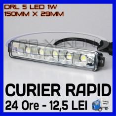 DRL 5-LED 1W - 150mm x 29mm - DAYTIME RUNNING LIGHT - Lumini de zi ZDM, Universal