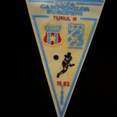 Fanion fotbal - PENTRU UN FAN STEAUA BUCURESTI - FANION - STEAUA BUCURESTI - GOTEBORG - CUPA CAMPIONILOR EUROPENI - 15 MARTIE 1989