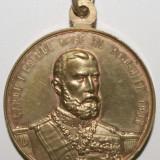 OKAZIE!!! TRAIAN CUCERITORUL DACIEI SI INTEMEIETORUL NEAMULUI ROMANESC 106 - CAROL I PRIMUL REGE AL ROMANIEI 1906 .1800 ANI . - Medalii Romania