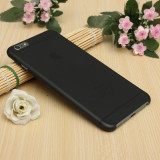Husa iPhone 6 Plus 6S Plus Ultra Slim 0.2mm Mata Black - Husa Telefon Apple, Negru, Plastic, Fara snur, Carcasa