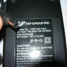 INCARCATOR LAPTOP ACER/TOSHIBA FSP120-AAC 120W 19V 6.32A PERFECT FUNCTIONAL!, Incarcator standard
