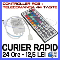 Iluminat decorativ ZDM - CONTROLER RGB IR + TELECOMANDA 44 TASTE - PENTRU BANDA LED RGB 3528, 5050