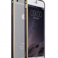 Bumper iPhone 6 6S Aluminiu by Yoobao Original Black - Bumper Telefon, Negru
