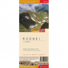 Harta Turistica - Schubert & Franzke Harta Muntii Nostri Harta Muntilor - Rodnei MN03