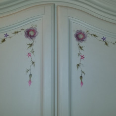 Dulap dormitor - Mobila Anastasia - pictata manual