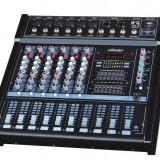 Mixere DJ - MIXER AMPLIFICAT 6 CANALE CU PUTERE 500 WATT, CITITOR MP3 PLAYER USB, EFECTE DSP,