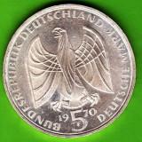 Germania - 5 Deutsche Mark marci 1970 argint 11, 2 grame, muzica, 200 ani de la nasterea lui Ludwig van Beethoven