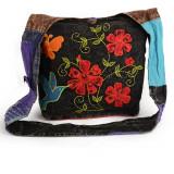 Geanta model flori si colibri - SPRING - Geanta handmade